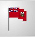 bermuda waving flag creative background vector image