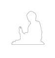 Big buddha statue on the mountain in Hong Kong vector image