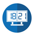 board score american football icon shadow vector image
