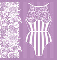 body lingerie lacy lingerie vector image vector image
