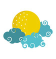 bright moon clouds sky cartoon isolated icon style vector image vector image