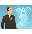 Business conceptual with businessman vector image