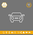 car symbol line icon graphic elements for your vector image