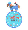 christmas sale clearance on vector image vector image