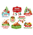 christmas wish winter holiday greeting icon vector image vector image