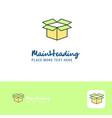 creative carton logo design flat color logo place vector image vector image