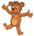 Cute brown cartoon bear vector image vector image