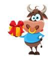 cute bull symbol chinese new year 2021