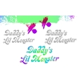 daddy s little monster lil sample text design vector image vector image