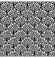 Decorative floral seamless pattern with black vector image vector image