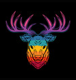 deer head colorful vector image