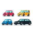 different flat cars cheap motor car on wheels vector image