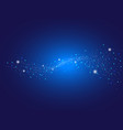 dot abstract on blue background vector image vector image