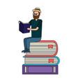 education man cartoon vector image vector image