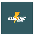 electric logo template vector image vector image