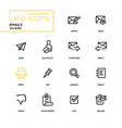 emails - modern line design icons set vector image vector image