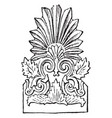 faade tile from the temple of diana at ephesus vector image vector image