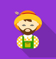 farmer flat icon for web and mobile vector image