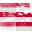 Flag of Indonesia with old texture vector image