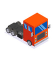flat design isometric tractor unit truck car vector image vector image