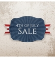 Fourth of July Sale Holiday Emblem vector image vector image