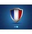 france shield on the blue background vector image vector image