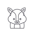 funny raccoon line icon concept funny raccoon vector image