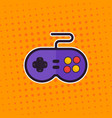 gamepad retro game controller sticker vector image