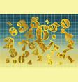 golden arithmetic background vector image vector image
