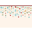hangigng ornaments xmas card background elements vector image vector image