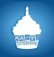 happy birthday cupcake card vector image vector image