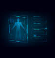 hud interface virtual hologram future system vector image vector image
