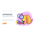 hypnosis practice concept landing page vector image vector image