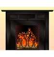 Isolated fireplace with burning fire vector | Price: 1 Credit (USD $1)