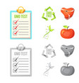 isolated object of and icon set of and ve vector image