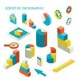 isometric business finance analytics chart vector image vector image