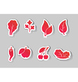 leaves and fruit icons vector image vector image