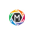 letter m community logo template vector image vector image