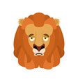 lion sad emoji face avatar wild animal sorrowful vector image