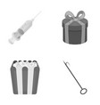 medicine food and other monochrome icon in vector image vector image