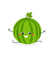 merry cartoon watermelon doing the splits vector image