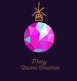 merry unicorn christmas card new year vector image vector image