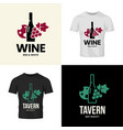 modern wine isolated logo collection for tavern vector image vector image