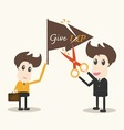 never give up business man vector image
