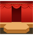 open theater scene with red curtain and fashion vector image vector image