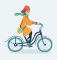 outdoor fashion portrait elegant lady riding vector image vector image