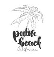 palm beach california t-shirt design vector image vector image