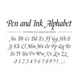 pen and ink alphabet universal handwritten font vector image