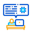 programming code icon outline vector image
