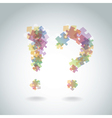 Puzzle question marks vector image vector image